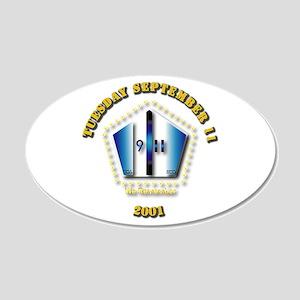 Emblem - 9-11 22x14 Oval Wall Peel