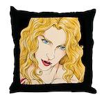 Vampire Vixen Throw Pillow