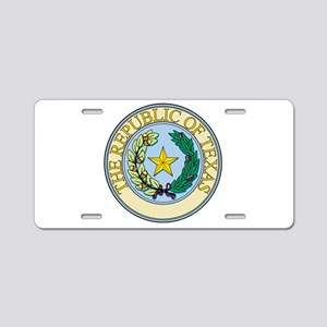 Republic of Texas Seal Aluminum License Plate