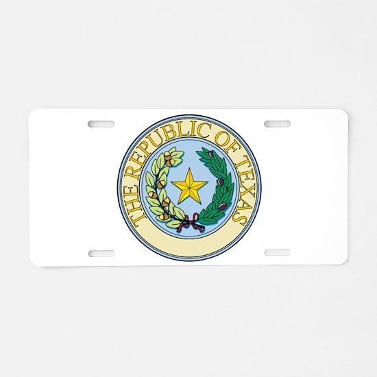 Republic of Texas Seal Aluminum License Plate