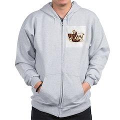 alpaca / llama Zip Hoodie
