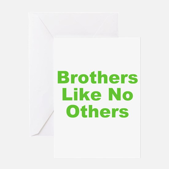 Brothers Like No Others Greeting Card