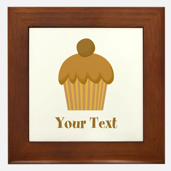 Chocolate Cupcake with Custom Text Framed Tile