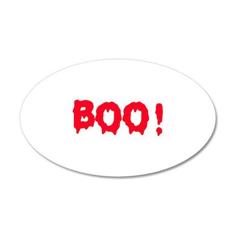 Boo! 38.5 x 24.5 Oval Wall Peel