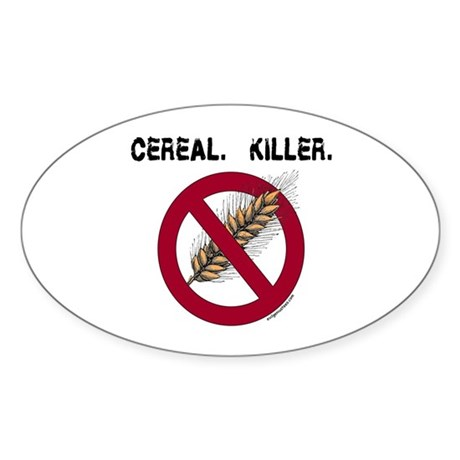Cereal. Killer. with wheat, gluten free Sticker (O