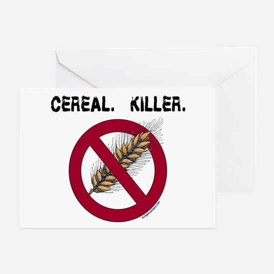 Cereal. Killer. with wheat, gluten free Greeting C