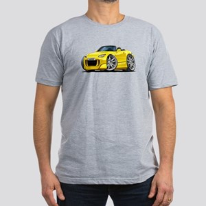 s2000 Yellow Car Men's Fitted T-Shirt (dark)