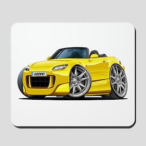 s2000 Yellow Car Mousepad