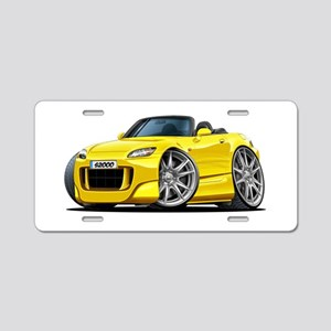 s2000 Yellow Car Aluminum License Plate