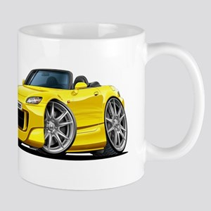 s2000 Yellow Car Mug
