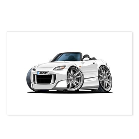 s2000 White Car Postcards (Package of 8)