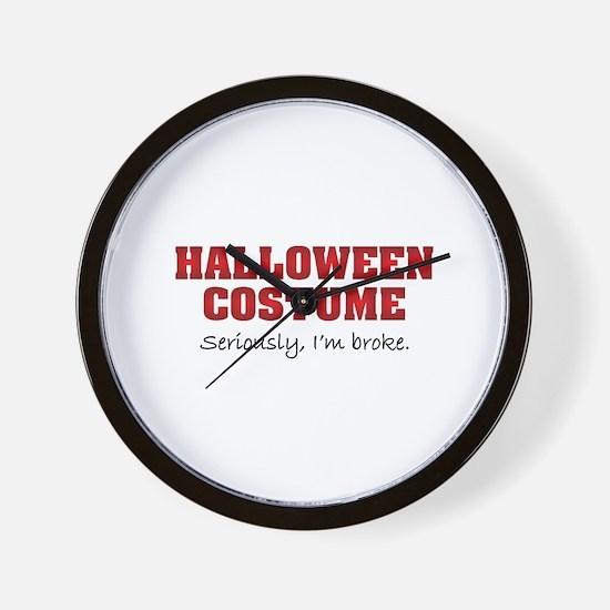 Halloween costume Wall Clock