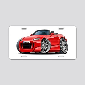 s2000 Red Car Aluminum License Plate