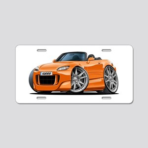 s2000 Orange Car Aluminum License Plate