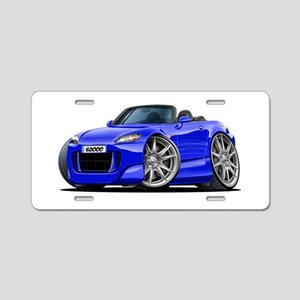 s2000 Blue Car Aluminum License Plate