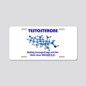 The Testosterone Collection Aluminum License Plate