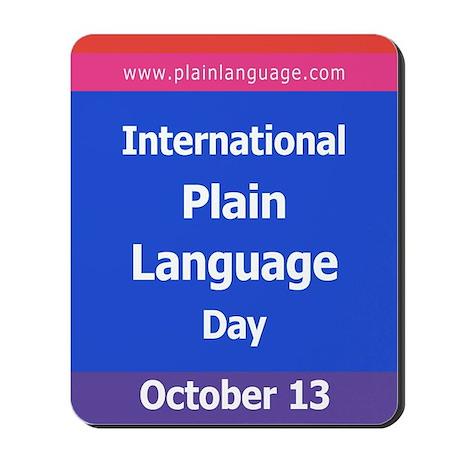 International Plain Language Mousepad