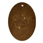 Curly Pumpkin (Brown) Ornament (Oval)