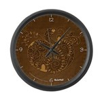 Curly Pumpkin (Brown) Large Wall Clock