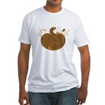 Curly Pumpkin (Brown) Fitted T-Shirt
