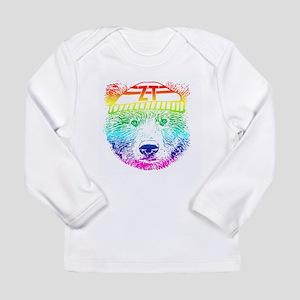 Rainbow Bear Face Long Sleeve T-Shirt