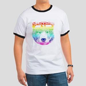 Rainbow Bear Face T-Shirt