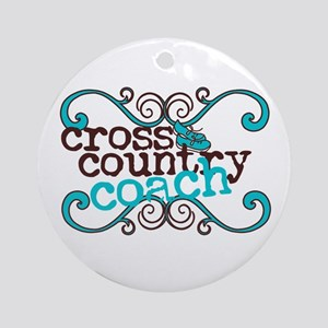 Cross Country Coach Ornament (Round)