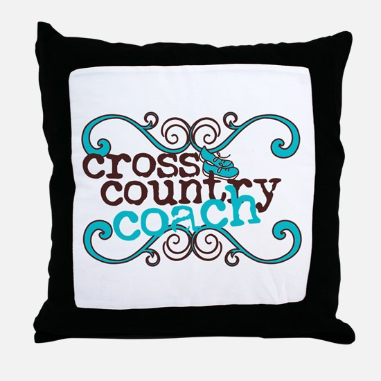 Cross Country Coach Throw Pillow