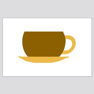 Brown Tea Cup and Saucer Large Poster
