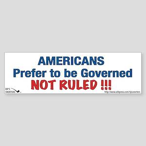 Americans Prefer to be Govern Sticker (Bumper)