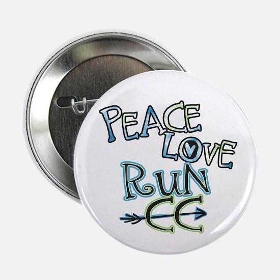 """Peace Love Run CC 2.25"""" Button (100 pack)"""