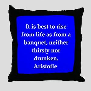 Wisdom of Aristotle Throw Pillow