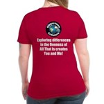 Individuality Women's V-Neck Dark T-Shirt