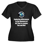 Individualit Women's Plus Size V-Neck Dark T-Shirt