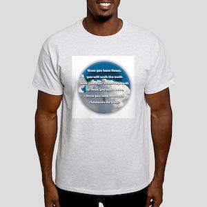 Leonardo Quote Ash Grey T-Shirt