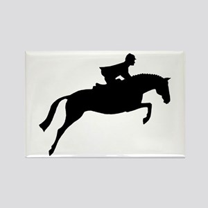 h/j horse & rider Rectangle Magnet
