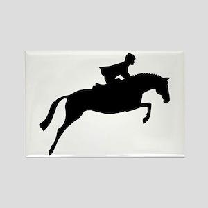 h/j horse & rider Rectangle Magnet