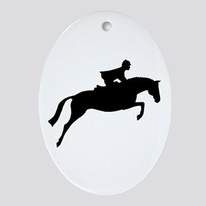 h/j horse & rider Oval Ornament