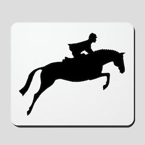 h/j horse & rider Mousepad