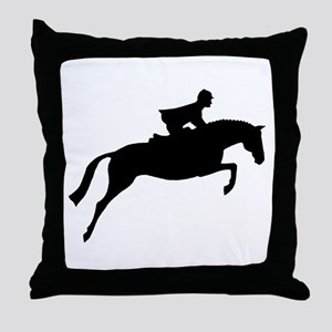 h/j horse & rider Throw Pillow