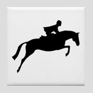 h/j horse & rider Tile Coaster