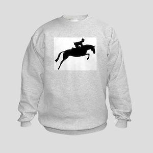h/j horse & rider Kids Sweatshirt