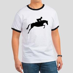 h/j horse & rider Ringer T