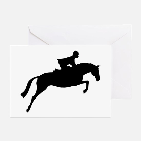 h/j horse & rider Greeting Cards (Pk of 10)