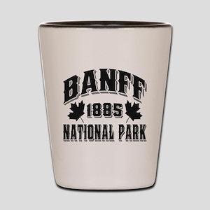 Banff National Park Black Shot Glass