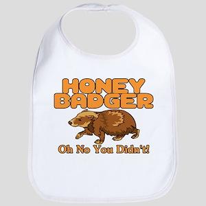Oh No Honey Badger Bib