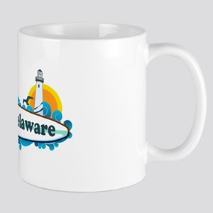 Lewes Beach DE - Surf Design Mug
