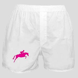 h/j horse & rider pink Boxer Shorts
