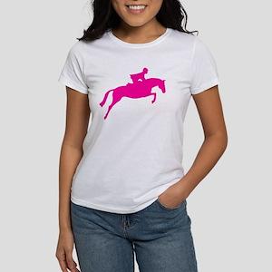 h/j horse & rider pink Women's T-Shirt