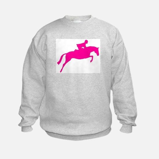 h/j horse & rider pink Sweatshirt